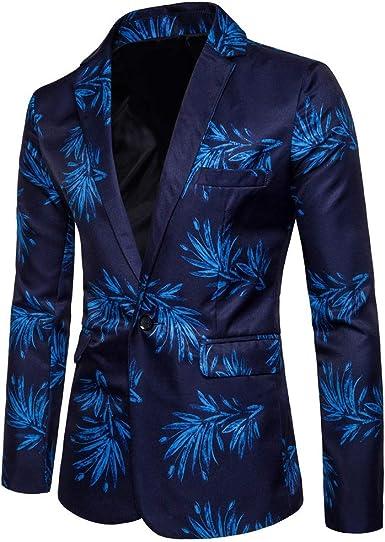 Meibida Traje de Hombre Traje de impresión Digital de Moda Camisa de Vestir de Hombre: Amazon.es: Ropa y accesorios