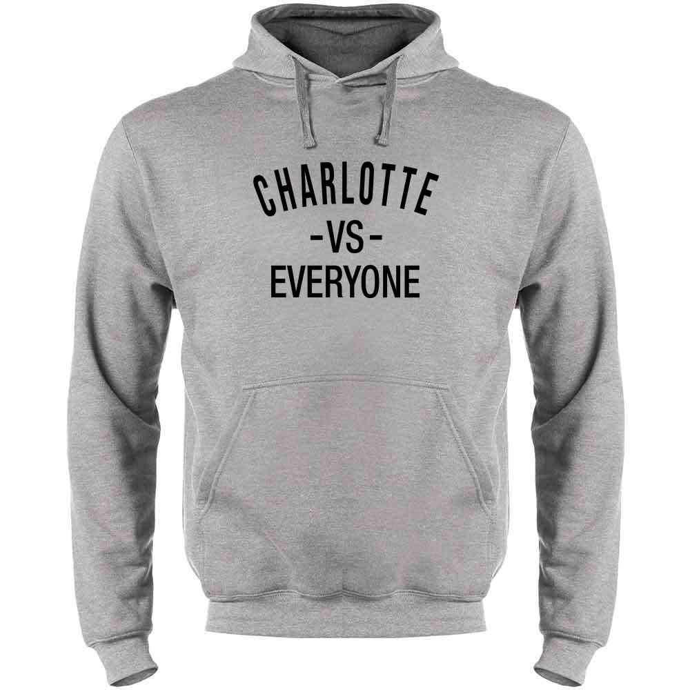 Charlotte vs Everyone North Carolina Sports Fan Mens Fleece Hoodie Sweatshirt