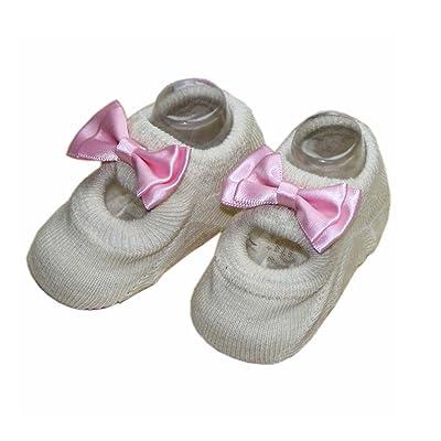 2 Paires Creative Design Anti-dérapant chaussettes mignonnes chaussettes, Beige
