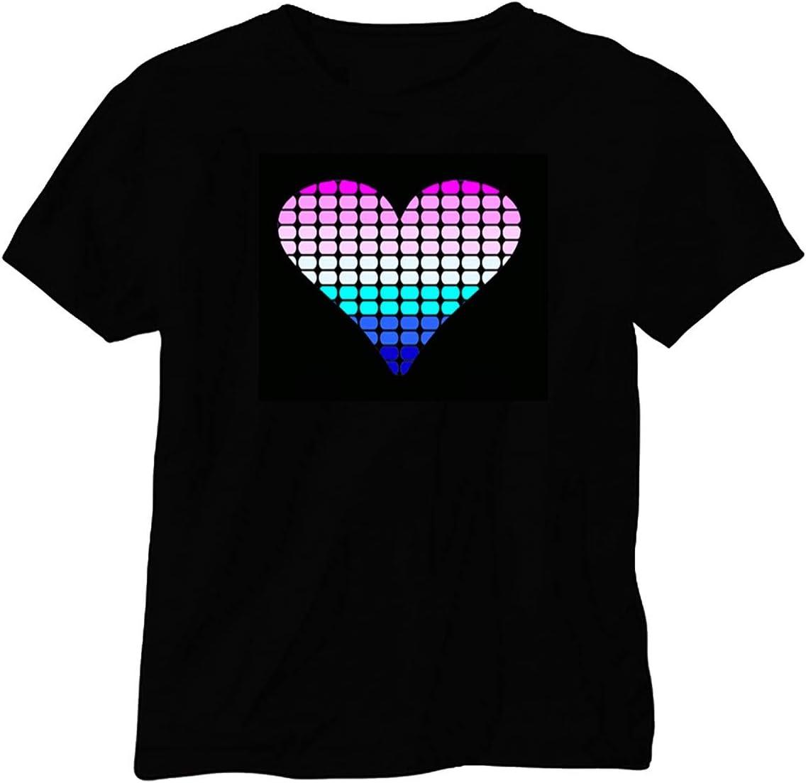 Camiseta Musical /& luminoso con LEDs Fm-136/talla L