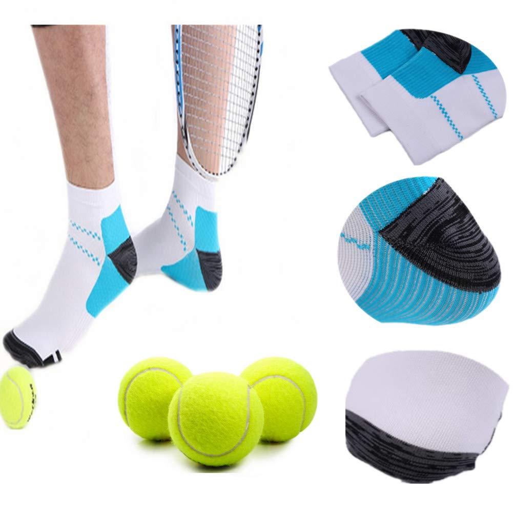 6 Pairs Medical&Althetic Compression Socks for Men Women, 15-20 mmHg Nursing Plantar Fasciitis Arch Support,Compression Ankle Socks for Running Marathon Travel Flight (Black Blue+White Blue)