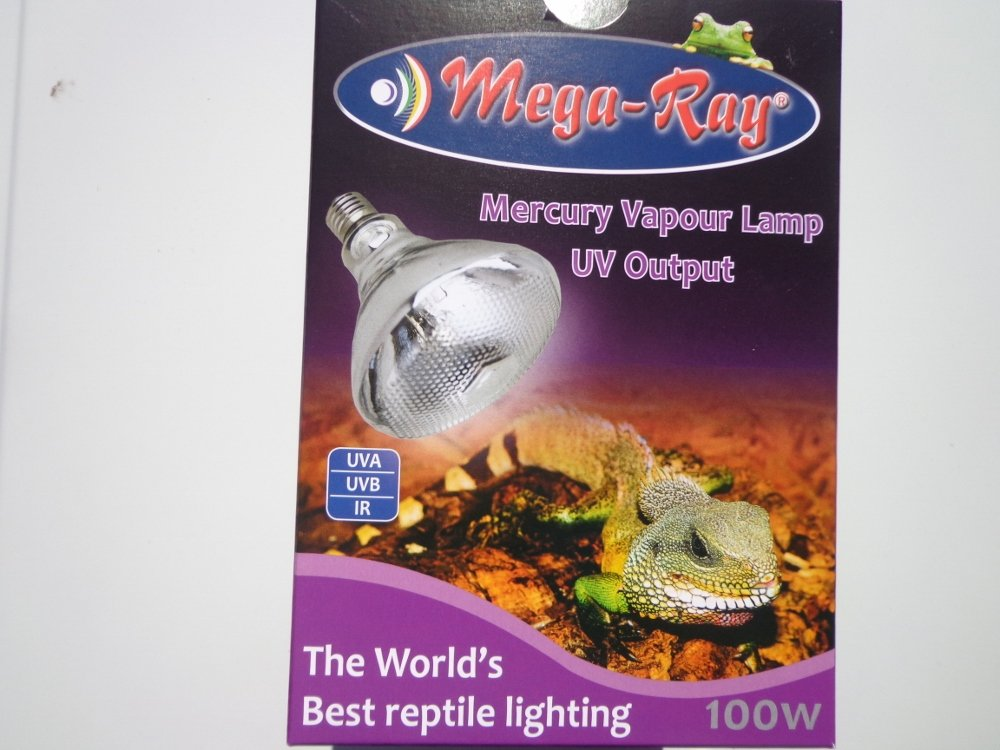Mega-Ray Mercury Vapor Bulb - 100 Watts (120V)