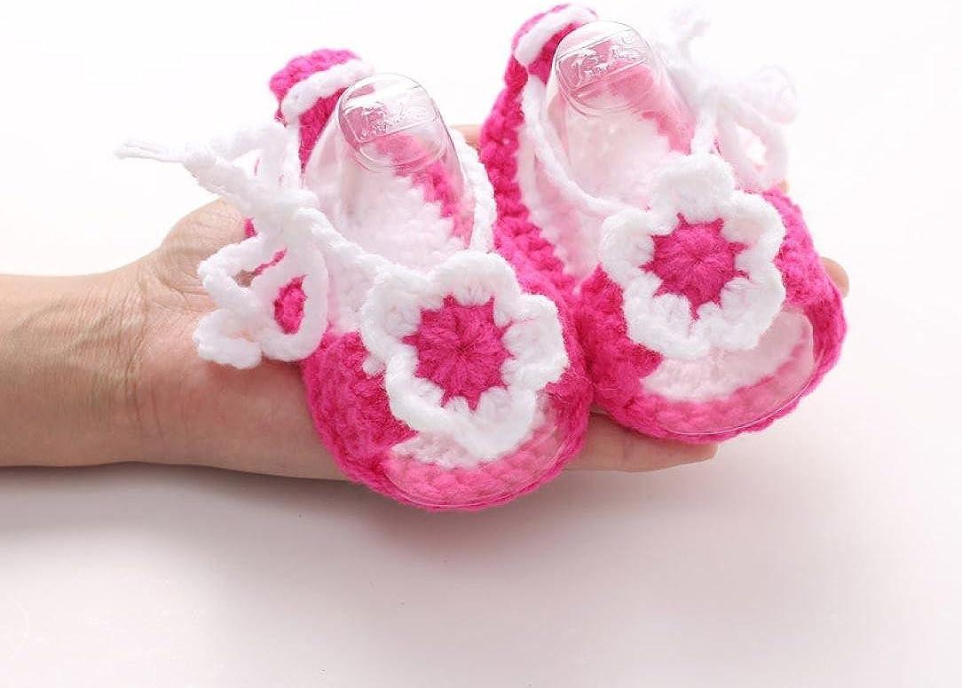 LuckyGirls B/éb/é Filles Casual Chaussures Fait Main Tricot Chaussettes Chaussures pour B/éb/és Filles Chaussettes Tricot Handmade Chaussons Chaussures de B/éb/é