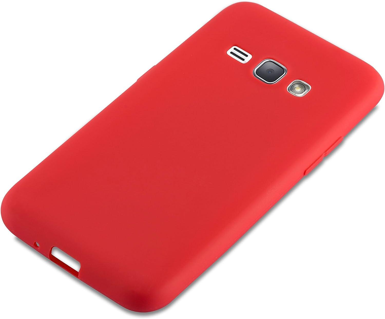 Ultra Slim Fin Gel Case Cover Bumper Housse Protection Souple en Silicone TPU avec Anti Choc et Anti Rayures Cadorabo Coque pour Samsung Galaxy J1 2016 en Candy Noir