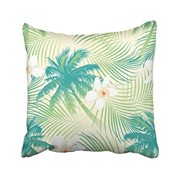 Amazoncom Custom Green Surf Tropical Palm Tree With Flowers Beach - Palm-tree-furniture-from-pacific-green