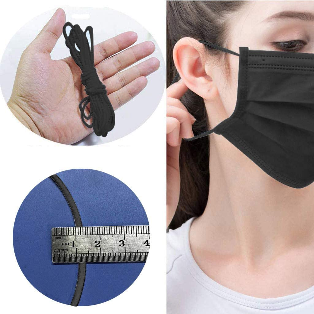 NotingBuss-Home Elastic Bands for face Cover Width Cord for Crafts Elastic Rope Stretch Knit Elastic Spool Making Sewing