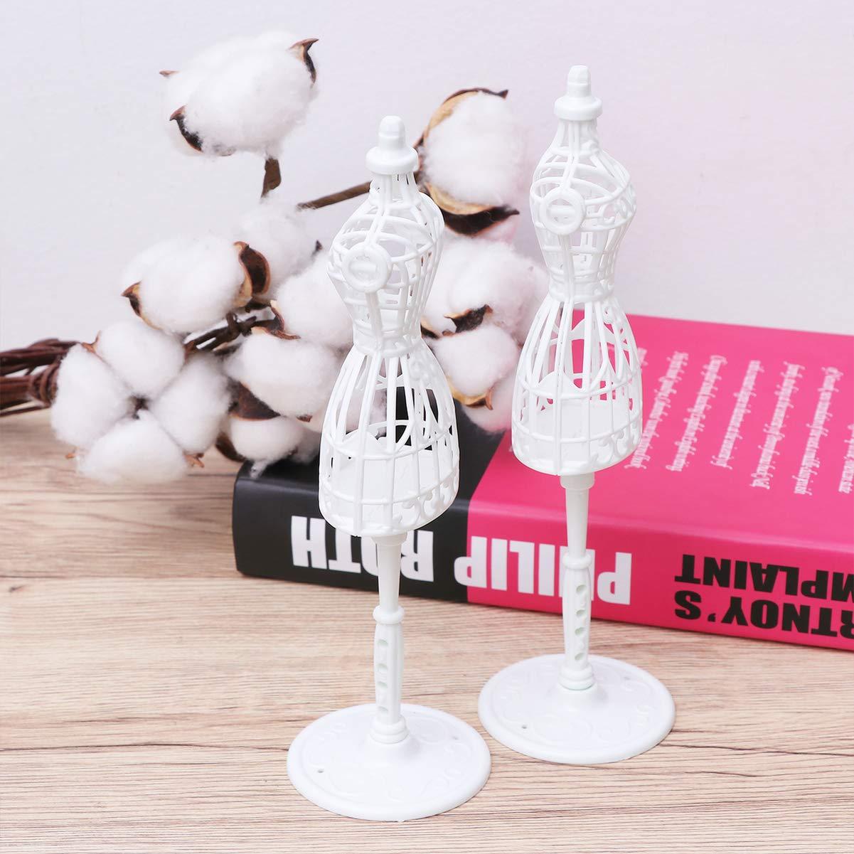 Wei/ß HEALIFTY 10 St/ücke Puppe Kleid Form Kunststoff Tuch Kleid Puppe Kleid Demontierbar Display Unterst/ützung Halter Schaufensterpuppe Modell Stehen Zubeh/ör f/ür Puppe Kleider