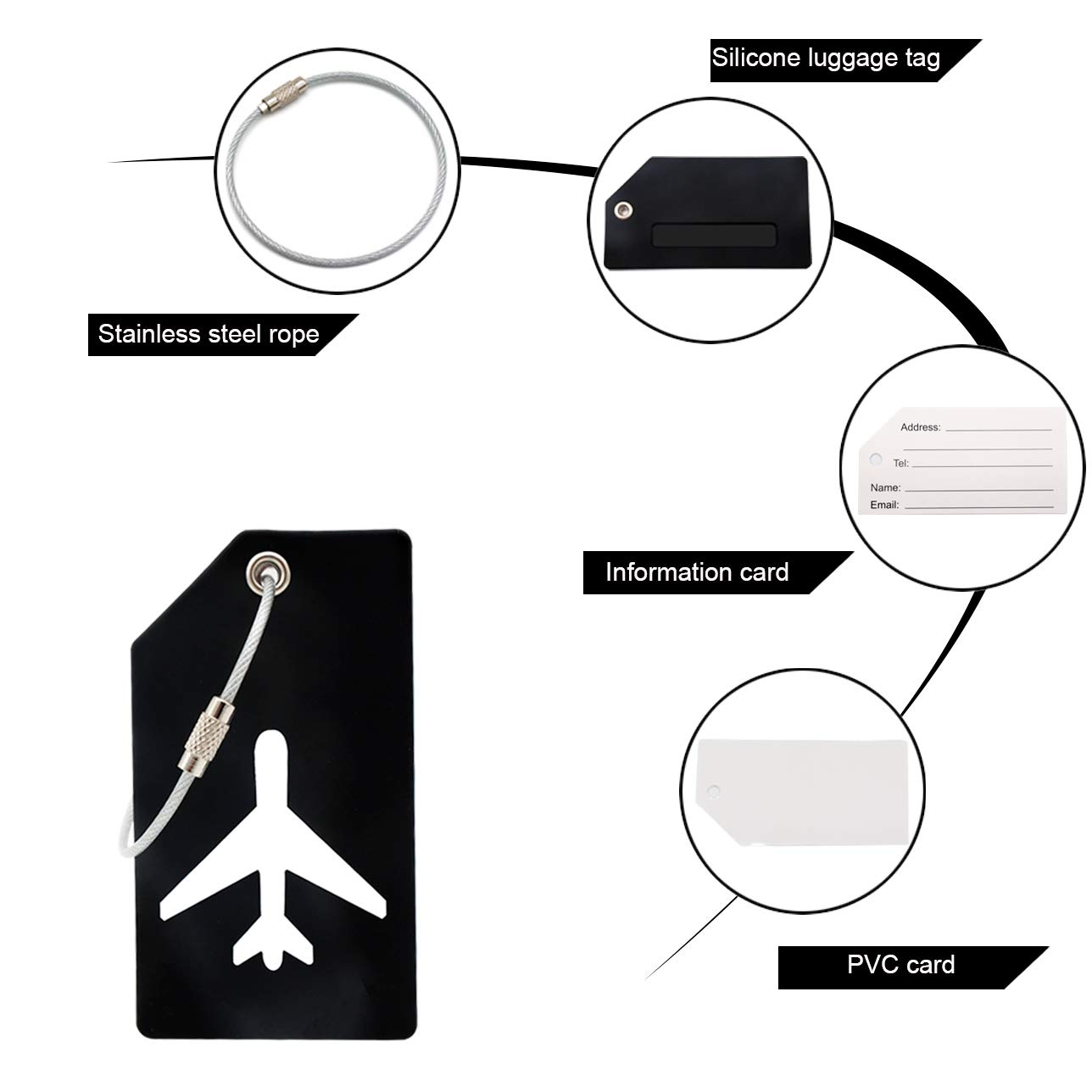 kids and cruise ship Green Premium flexible Travel ID Bag Tag helps Quickly Spot Luggage 2PCS Y.A for women men LOTUS Silicone Luggage Tag with Name ID Card and Stainless Steel Loop