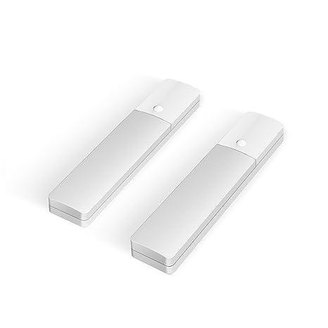 knaclean luz Sensor de movimiento luz para armario, 3 modos de luz, batería USB