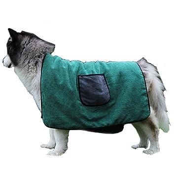Amazon.com: Nasha - Albornoz para mascota, microfibra ...