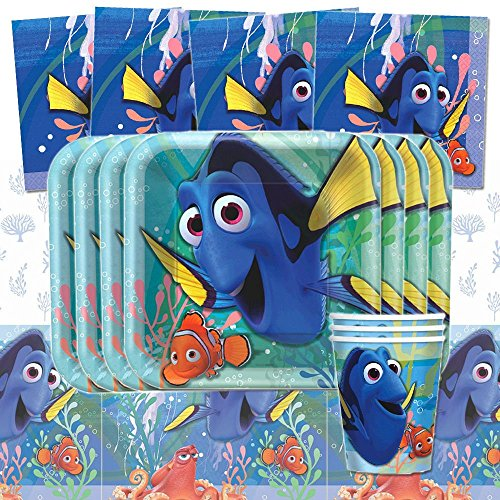 Disney Pixar Finding Dory Birthday Party Tableware Pack Kit For 8