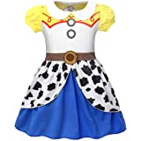 MetCuento Girls Costume Princess Dress Halloween Costume Cow Dress Up Birthday Party Role Play Pretent Outfit