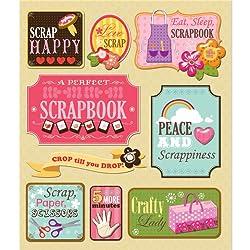 K&company Scrapbooking Sticker Medley