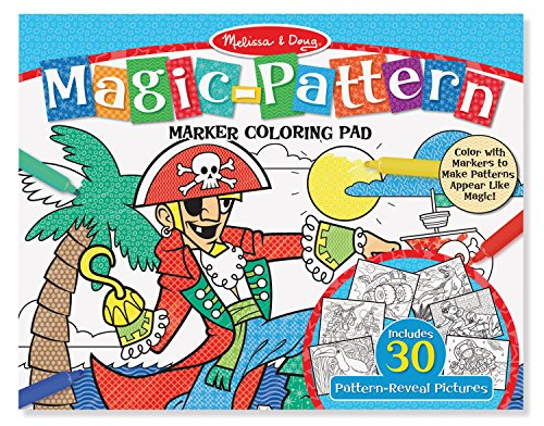 3 Year Pattern (Melissa & Doug Magic-Pattern Marker Kids' Coloring Pad - Pirates, Sports, Castles, and More)