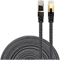 Cat 7 Ethernet Cable, DanYee Nylon Braided 10ft CAT7 High...