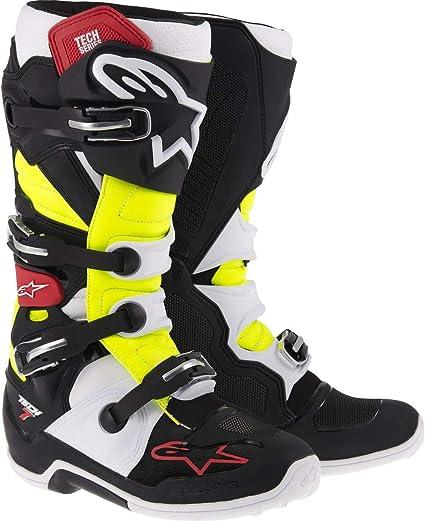 de Motocross Alpinestars Technologie Bottes 7 BlancBleu F1KlJcT