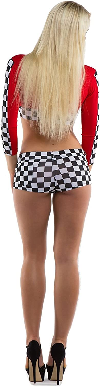 TrendClub100 Mujer Disfraz de Carrera de la Caja y la Red Girl ...