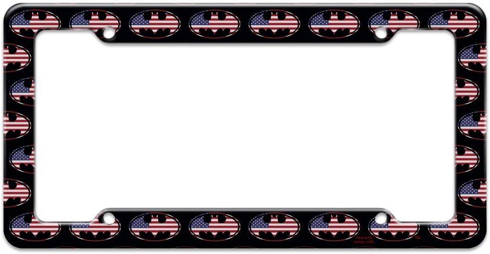 Graphics and More Batman USA American Flag Shield Logo License Plate Tag Frame