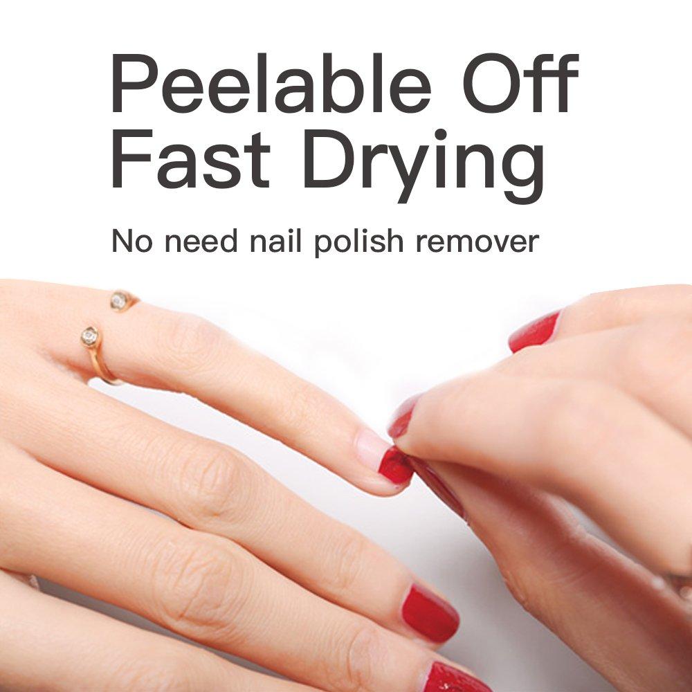 Amazon.com: Baby Nail Polish, Emosa Natural Non Toxic Peel Off Fast ...