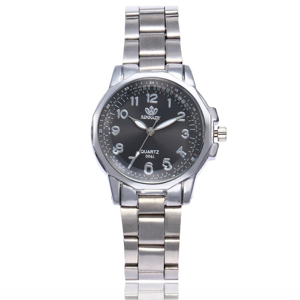 JiaMeng Amistad Pulsera Reloj Deportivo de Cuarzo analógico de Acero Inoxidable de Lujo para Hombre de Moda (marrón A): Amazon.es: Ropa y accesorios