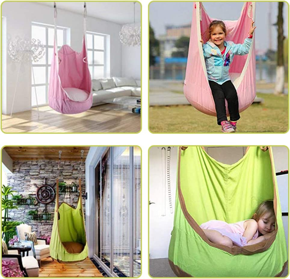 FOME Frog Folding Hanging Pod Kid Hammock Seat Kids Pod Swing Seat Kid Hammock Seat Hammock Pod for Kids Above 3 Years Old Weight Capacity 177 lb Kids Pod Swing Seat