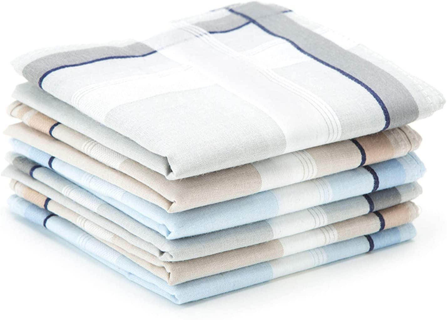 Gentlemans set of 13 white handkerchief hankies STYLE is Edwardian  Made in czech Republic Wedding gift best mans gift Accessories.