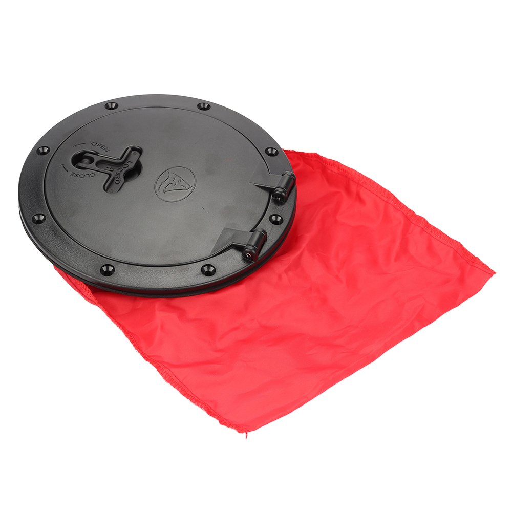 Breynet Marine Boat Kayak Canoe Hatch Cover 6 inch Deck Plates Kit with Storage Bag for Boats
