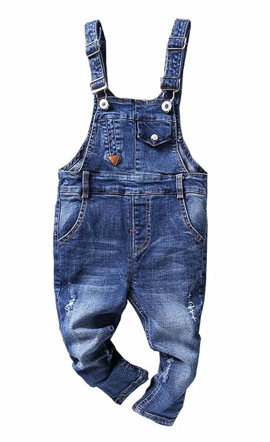 CYSTYLE Latzhose Baby Kleinkind Jungen Jeanshose Baumwolle Tasche Jeans Hosen Baby Kinder Overall