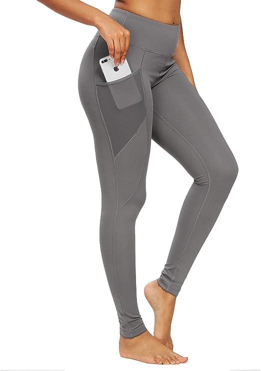 QUEENIEKE - Mallas de yoga para mujer, con 3 bolsillos para el ...