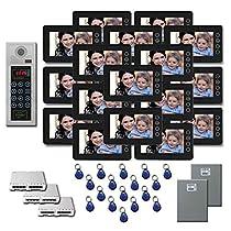 Multitenant Video Intercom 17 7 inch door panel color monitor kit