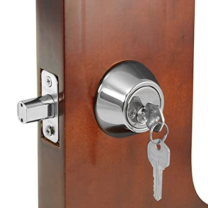 Merveilleux Franklin Standard Door Silver Double Cylinder Deadbolt Lock With Two (2)  Keys