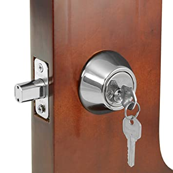 Franklin Standard Door Silver Double Cylinder Deadbolt Lock with Two (2) Keys - - Amazon.com  sc 1 st  Amazon.com & Franklin Standard Door Silver Double Cylinder Deadbolt Lock with Two ...