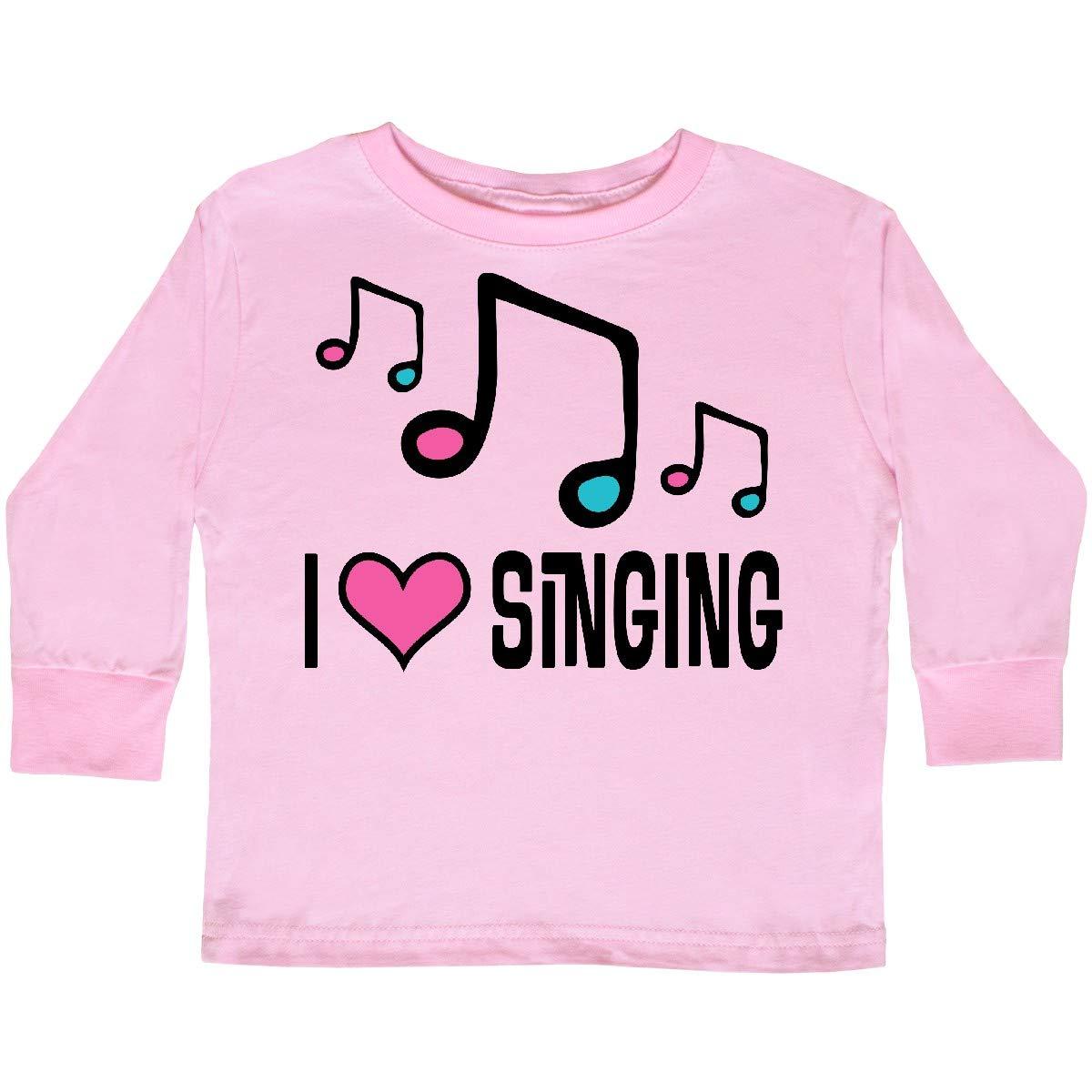 inktastic Choir Singer Music I Love Singing Toddler Long Sleeve T-Shirt