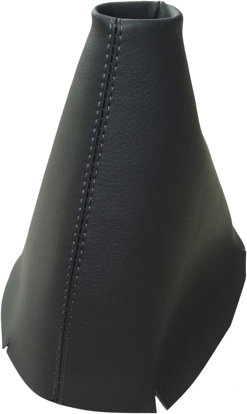 AERZETIX Funda para palanca de cambios y freno de mano de piel sint/ética con costuras de colores variables negro con costuras azul