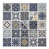 wall tile designs  - Premium Anti Mold Peel and Stick Wall Tile Backsplash in Moroccan & Portuguese Design (Moroccan Rano, 10)