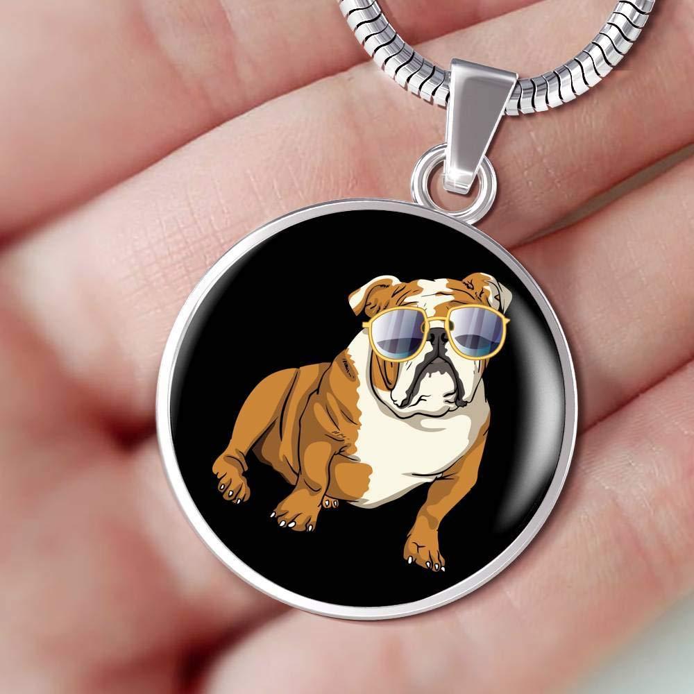 for Cute Dog Lovers Weezag Bulldog Pendant Necklace Bangle