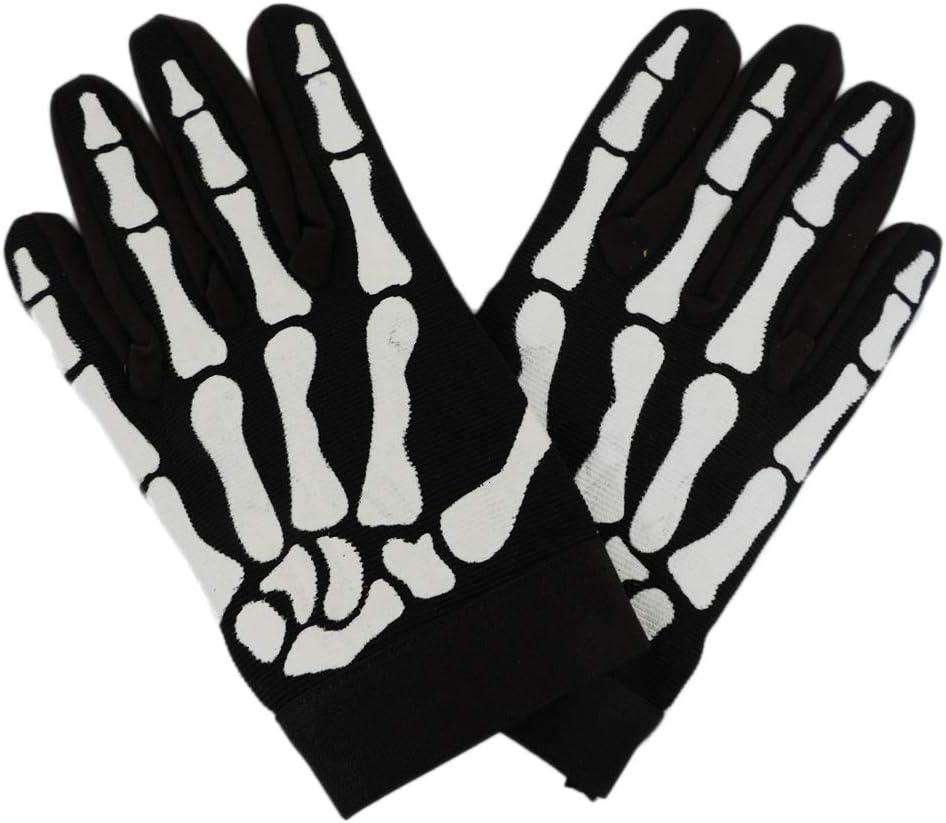 Biker Grip Skeleton Bone Work Gloves Racing Cycling Motorcycle skull Sz Medium