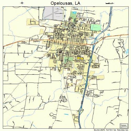 Opelousas Louisiana Map.Amazon Com Large Street Road Map Of Opelousas Louisiana La