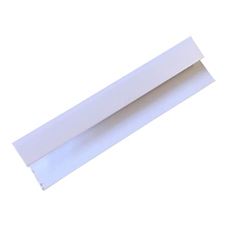 White 8mm End Cap Trim For Bathroom Panels Ceiling Cladding Shower Wall PVC  By DBS