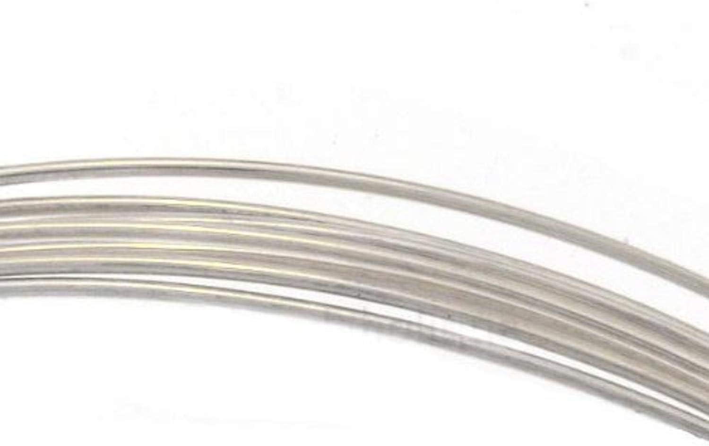 Sterling Silver Half Hard Round Wire18,19,20,21,22,24,26 Gauge Silversmith Beads