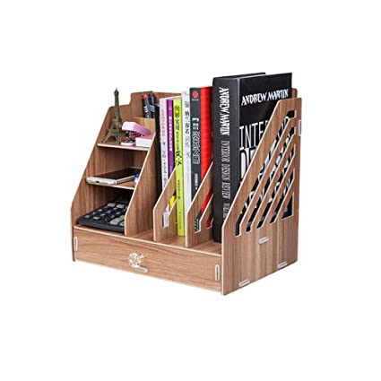 Desktop Organizer Magazine Holder Office Desk Storage Rack Shelf 3 Slot