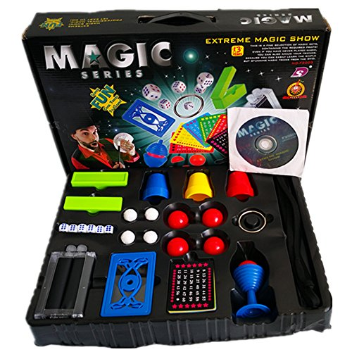 Magic Tricks Set for Kids – Extreme Magic Show – Spectacular Magic Show Suitcase, Instruction DVD