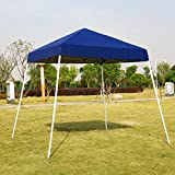 VIVOHOME Slant Leg Outdoor Easy Pop Up Canopy Party Tent Blue 10 x 10 ft