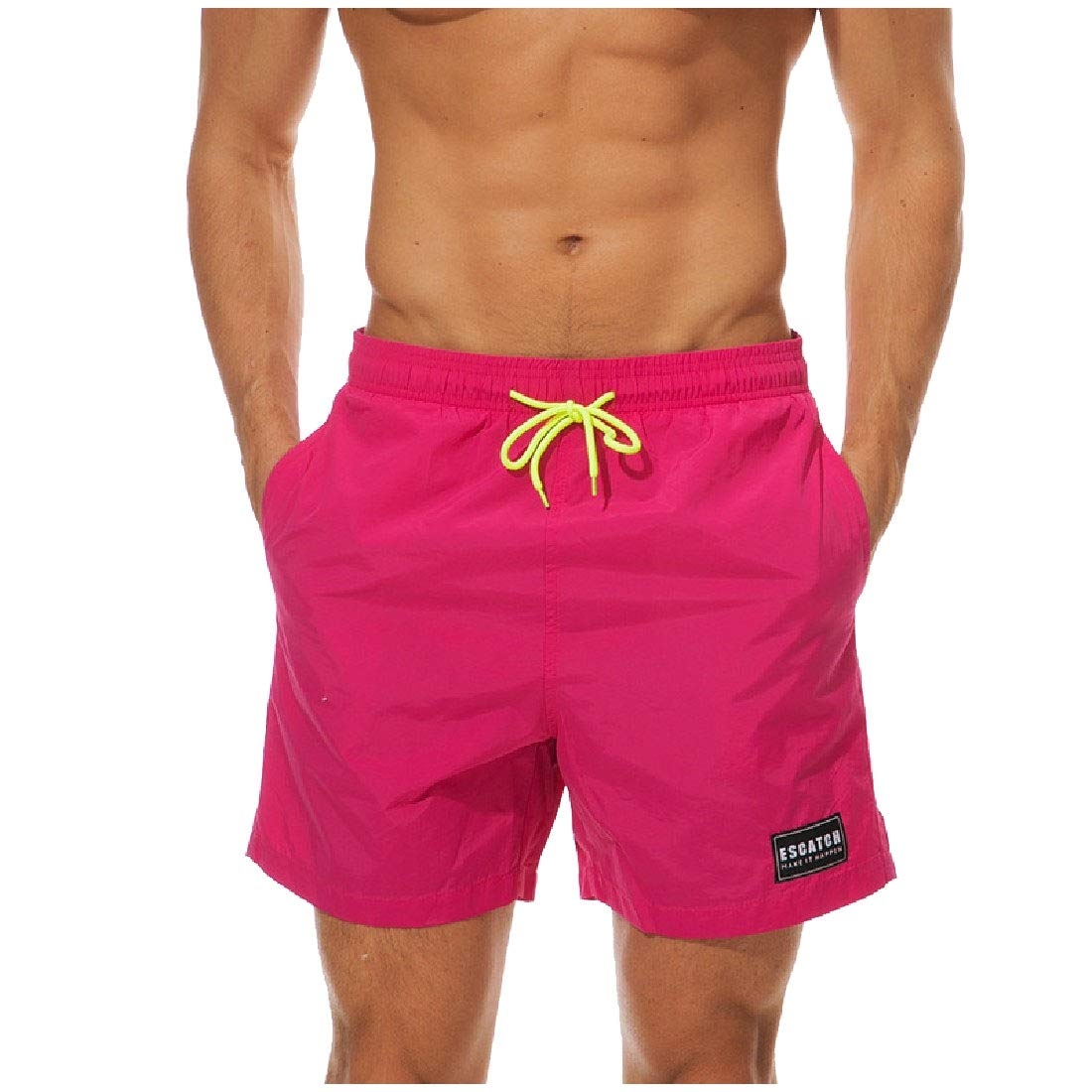 Abetteric Mens Waterproof Breathable Casual Active Drawstring Board Shorts