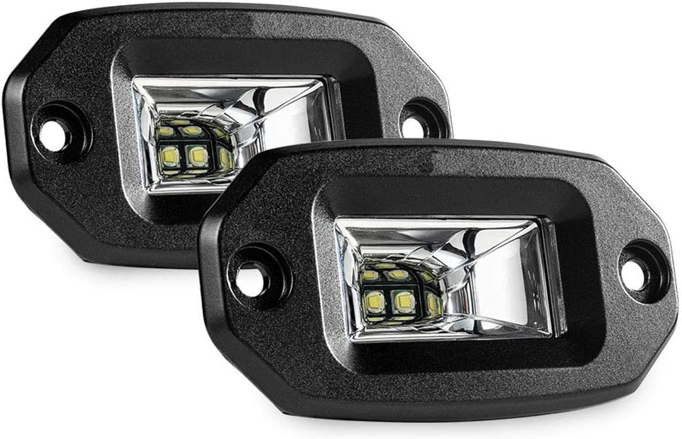 Gyj/&mmm Auto F/ührte Off Road Backup-Treibende Lichter Nebelscheinwerfer F/ür Jeep Auto ATV UTV SUV LKW-Boot 2Pcs 20W Flood LED-Licht Bar