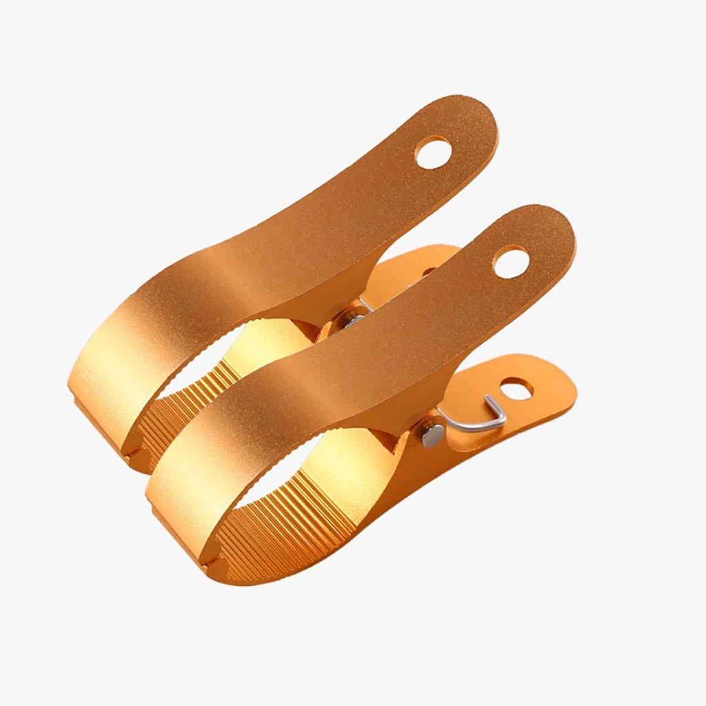 乾燥ラック、アルミ合金ラージクリップ、シルバー、ゴールド、ローズゴールド、サンクリップクリップラージクリップラージスチールクリップは、耐風性と耐久性のある金属ハンガーを強化する (色 : ゴールド, サイズ さいず : 8) B07G2MWR98 ゴールド 8