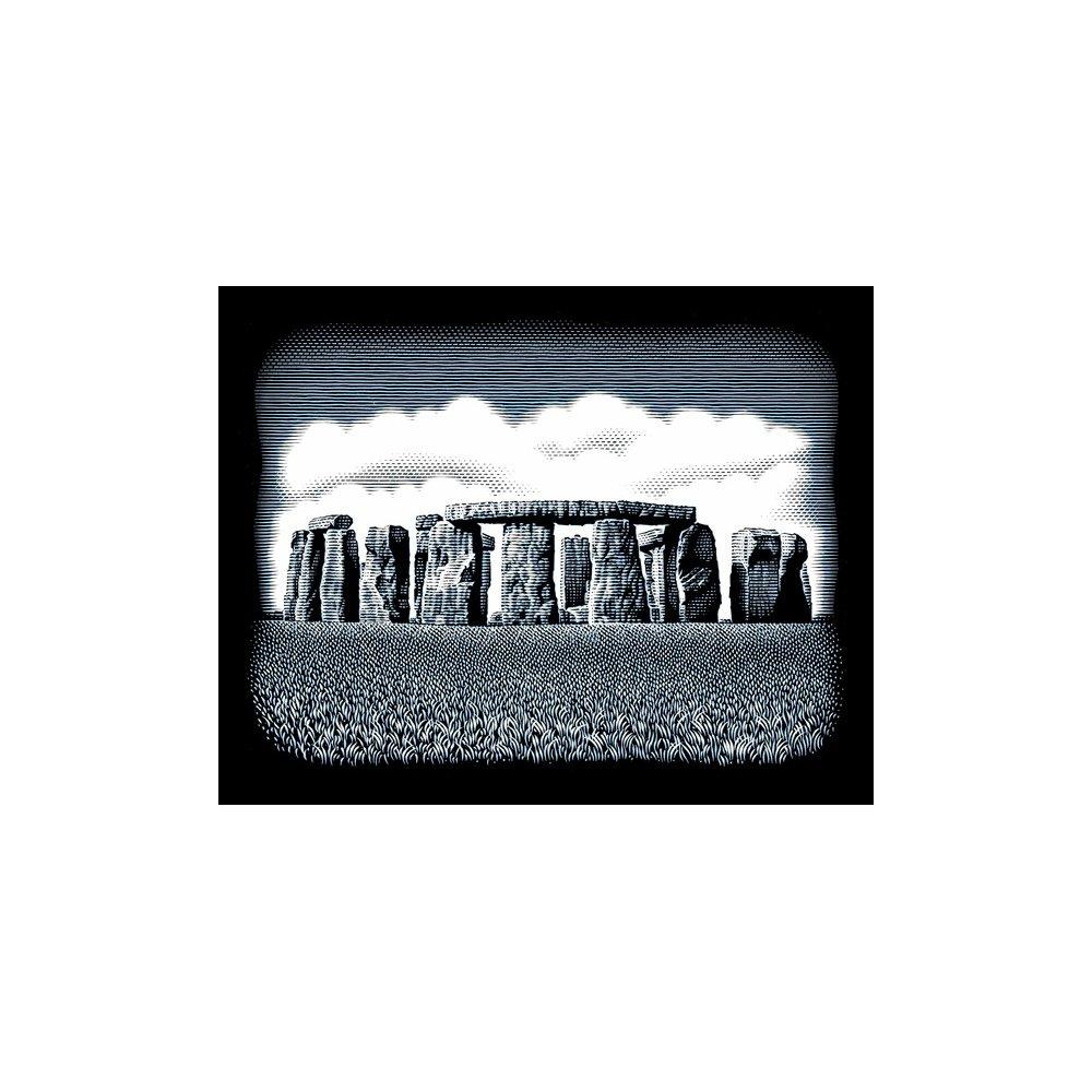 Reeves Kratzbild Scraper Steinruine Stone Circles Gr/ö/ße 20/cm x 25/cm