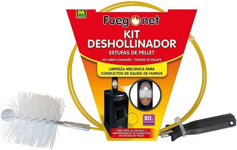 Masso 008851 KIT Deshollinador pellet 80mm, Color unico