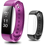 BESYOYO Waterproof Fitness Tracker, Smart Bracelet with Sleep Monitor, Sports Activity Tracker Pedometer Calories Counter Smart Watch for Kids Women Men, with Replacement Band for IOS & Android