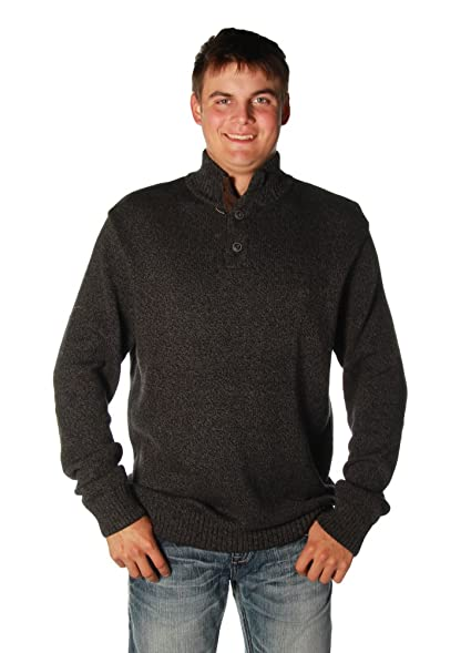 Cotton Twist Mock Neck in Charcoal Twist by Chaps at Amazon Men's ...
